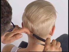 ABC Cutting hair the Sassoon Way Vidal Sassoon part3 - YouTube