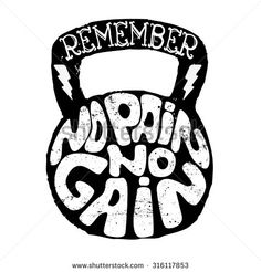 no pain no gain t-short design template in vector.