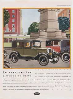 The New Ford De Luxe Sedan McCall's Magazine July 1930 by Boats-n-Cars, via Flickr