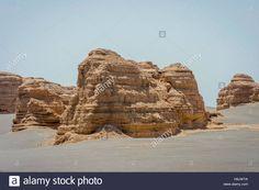 Rock formations in Dunhuang Yardang National Geopark, Gobi Desert Stock Photo, Royalty Free Image: 125805326 - Alamy