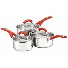 Prestige® Create 3 Piece Stainless Steel Pan Set - from Lakeland