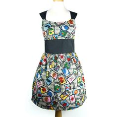 Rockabilly Pinup  Dress / Vintage Inspired 1950s Inspired  Loteria Dress