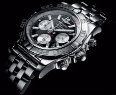 "Breitling Chronomat 44.  The Chronomat 44 is an authentic Breitling ""wrist instrument"" reflecting a universe dedicated to performance, sporting feats and surpassing personal limits."