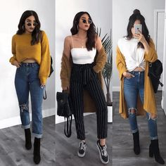 Spring outfits ideas for Cute casual outfits Edgy Outfits, Casual Winter Outfits, Mode Outfits, Simple Outfits, Classy Outfits, Winter Fashion Outfits, Spring Outfits, Ootd Fashion, Fashion Mode
