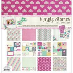 Collection-SIMPLE-STORIES-HEY-MOM-kit-papiers-30x30-stickers-scrapbooking