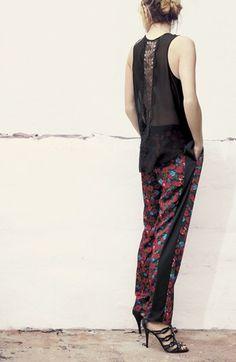 Daring. Vince Camuto Floral Print Drawstring Pants   Nordstrom