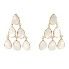 Buy the Yew Moonstone Teardrop Chandelier Earrings at Oliver Bonas. Enjoy free worldwide standard delivery for orders over £50.