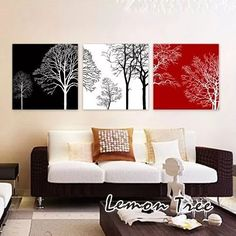 Wall Murals Painted Pictures 60 Ideas For 2019 Canvas Pictures, Pictures To Paint, Home Decor Wall Art, Living Room Decor, Painted Picture Frames, Wall Murals, Interior Design, Decoration, Trees