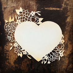 Papercutting Template by Cindy Bean - Valentine Heart