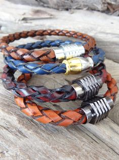 Excited to share the latest addition to my #etsy shop: Burgundy Braided Leather Bracelet, High Quality Leather Bracelet, Men