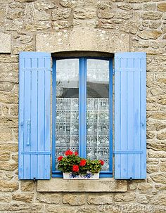 French Blue shutters More
