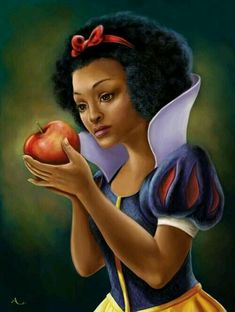 I say instead of Snow White we call her Mahogany Ebony #beyourownkindofbeautiful