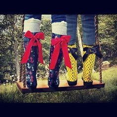 Navy Anchor Rain Boots with Red Bow by PuddlesNRainBows on Etsy, $58.00. NEED A PAIR OF THESE ONES..