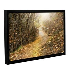 Found it at Wayfair - City Creek Bridge Framed Photographic Print on Gallery Wrapped Canvas