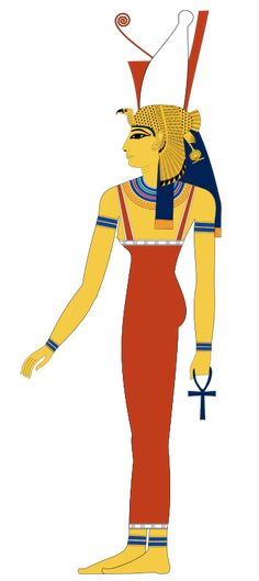 Mut - Mut, which meant mother in the ancient Egyptian language,[1] was an ancient Egyptian mother goddess with multiple aspects that changed over the thousands of years of the culture. Alternative spellings are Maut and Mout.   Some of Mut's many titles included World-Mother, Eye of Ra, Queen of the Goddesses, Lady of Heaven, Mother of the Gods, and She Who Gives Birth, But Was Herself Not Born of Any.