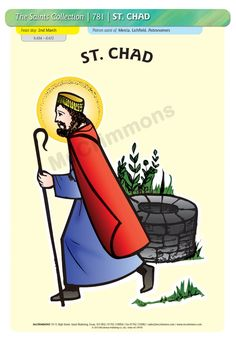 St. Chad - 26 October #SaintsDay - A3 Poster (STP781)