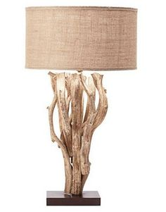 Driftwood Table Lamp from Pottery Barn – Modern Home Decor Driftwood Table, Driftwood Projects, Driftwood Furniture, Driftwood Ideas, Nursery Crafts, Starburst Mirror, Seaside Decor, Home Decor Accessories, Pottery Barn