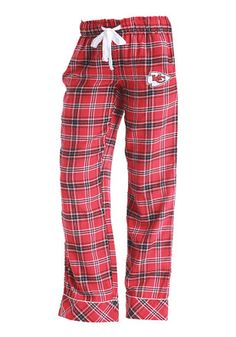 6dabdde0fa Kansas City Chiefs Womens Captivate Red Sleep Pants Red Trousers