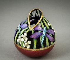 Deborah Winegar, Texas Gourd Society 2016 Novice Div, 1st Place, Carved