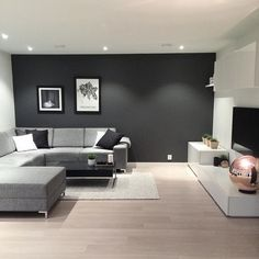 Simple And Small Living Room Designs With Modern Interior - Classy Living Room, Home Design Living Room, Living Room Decor Cozy, Living Room Grey, Living Room Interior, Monochromatic Living Room, Living Room Inspiration, House Rooms, Interior Design