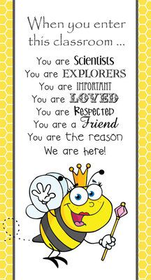 BEES - Classroom Decor: SMALL BANNER, When You Enter from ARTrageous Fun  on TeachersNotebook.com -  (1 page)  - BEE theme classroom decor, character education banner, small, When you enter this classroom ...