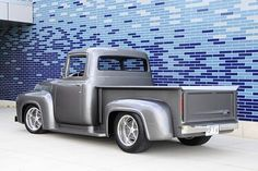 Polished Sterling and plenty of Classic Elements for this 1956 Ford Pickup - Hot Rod Network 1956 Ford Truck, Old Ford Trucks, Dually Trucks, Lifted Trucks, Diesel Trucks, Classic Pickup Trucks, Ford Classic Cars, Jeep Pickup Truck, Truck Camper