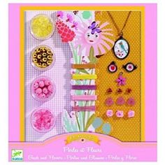 Djeco Ooh Beads- Pearls And Flowers Playset: Wide variety of colorful beads lets you mix and match for perfect combinations. Includes simple ideas for setting beads without clasps. Also includes a variety of small accessories. Craft Activities For Kids, Crafts For Kids, Arts And Crafts, Paper Crafts, Jewelry Kits, Beaded Jewelry, Jewelry Making, Jewellery, Sand Art
