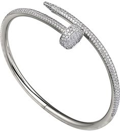 CARTIER - Juste un Clou 18ct or blanc et bracelet de diamants | Selfridges.com
