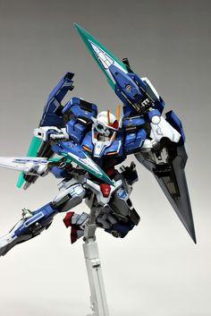 GUNDAM GUY: MG 1/100 00 Gundam Seven Sword/G - Painted Build