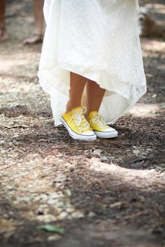 Converse as wedding shoes