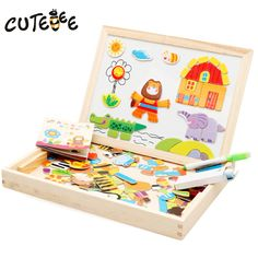 >> Click to Buy << CUTEBEE Wooden Puzzle Magnetic Drawing Board toy Montessori Educational Toys for Children Kids Forest Park Multifunctional kits #Affiliate