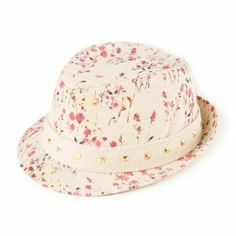 Field of Flowers Fedora with Studded Band