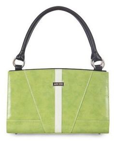 Eliana    It may not always be lovely weather outdoors, but you'll definitely have springtime in your heart and maybe a spring in your step too when you carry the Eliana Shell for Classic Bags. High-gloss faux leather in an extra-juicy shade of lime green is tastefully accented by a single white stripe and white stitching details.     https://purse-divas.miche.com/Shop/Product/1191