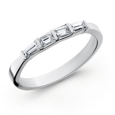 14K White Gold Diamond Ladies Endless Diamond® Embrace™ Wedding Band. All Embrace wedding bands are straight in-line bands that are interchangeable with any of the Embrace engagement rings.