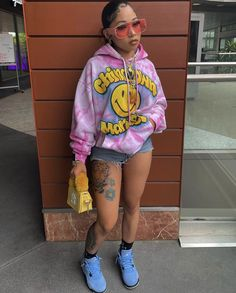 Boujee Outfits, Baddie Outfits Casual, Swag Outfits For Girls, Chill Outfits, Cute Swag Outfits, Cute Comfy Outfits, Dope Outfits, Urban Outfits, Summer Outfits