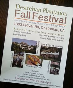 Whats the next big craft show to help you check off your Christmas shopping list?  Destrehan Plantation!  This Sat & Sun! 9am - 4pm #craft #crafts #craftshow #louisiana #destrehanplantation #destrehan #cajun #batonrouge #batonrougeevents #neworleans #lafayette #bands #food #foodie #party #christmas #terrebonne #southern #handmade #etsy #nola #womeninbusiness #events #november #fall #artist #entertainment #shopping #louisianaevents #christmastree