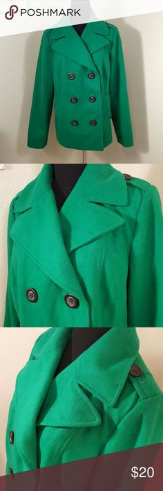 Old Navy Green Wool Pea Coat Excellent condition. Beautiful green coat. Old Navy Jackets & Coats Pea Coats