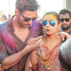 Alia bhatt and Sidharth Malhotra on this holi