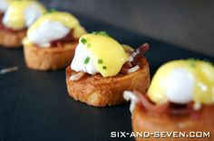 Brunch bridal shower-   Mini Eggs Benedict