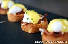 Brunch bridal shower-   Mini Eggs Benedict
