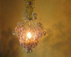 Chandelier+Sparkling+Woodland+Faerie+One+of+a+Kind+by+queendecor,+$450.00