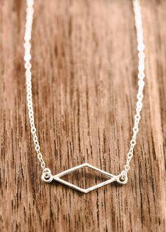 Hokuaonani necklace - sterling silver diamond necklace, layering necklace, delicate silver necklace, bridesmaid gift, maui, hawaii wedding