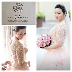 Local Philippine wedding gown atelier Cecilio Abad makes a lot of intricate, hand embroidered, beaded designs in his gowns for that special day!