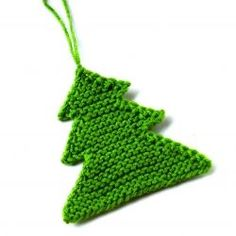 Knit Christmas tree ornament,i would add some embellishments