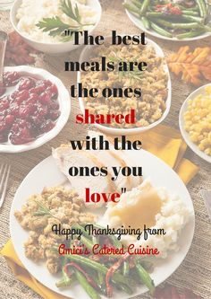 Thank you for all of your support and business. We want to wish you a Happy Thanksgiving from your Amici's catering family! #amicis #catering #cuisine #TurkeyDay2015