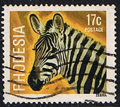 Rhodesia 1978 Wild Animals SG 564 Fine Used SG 564 Scott 402 Condition Fine Used Only one post charge applied on multipule purchases Details Zebra