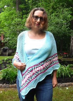 Ravelry: MeshUp Shawl pattern by Knitting for Sanity