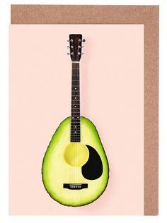 8149657d Avocado Guitar as Greeting Card Set by Paul Fuentes | JUNIQE Paul Fuentes,  Avocado,