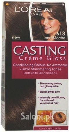 with its special feature of no ammonia hair color loreal paris casting creme gloss 613 iced mocha stands tall for providing great consistent long te - L Oral Gloss Color