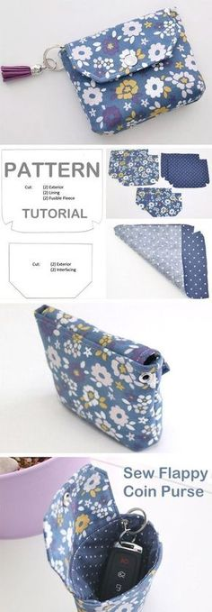 Coin Purse Tutorial DIY Flappy Coin Purse ~ Free tutorial for beginners. Ideas for sewing projects. Step by step illustration. DIY Flappy Coin Purse ~ Free tutorial for beginners. Ideas for sewing projects. Step by step illustration. Easy Sewing Projects, Sewing Projects For Beginners, Sewing Hacks, Sewing Tutorials, Sewing Tips, Tutorial Sewing, Pouch Tutorial, Free Tutorials, Diy Coin Purse Tutorial